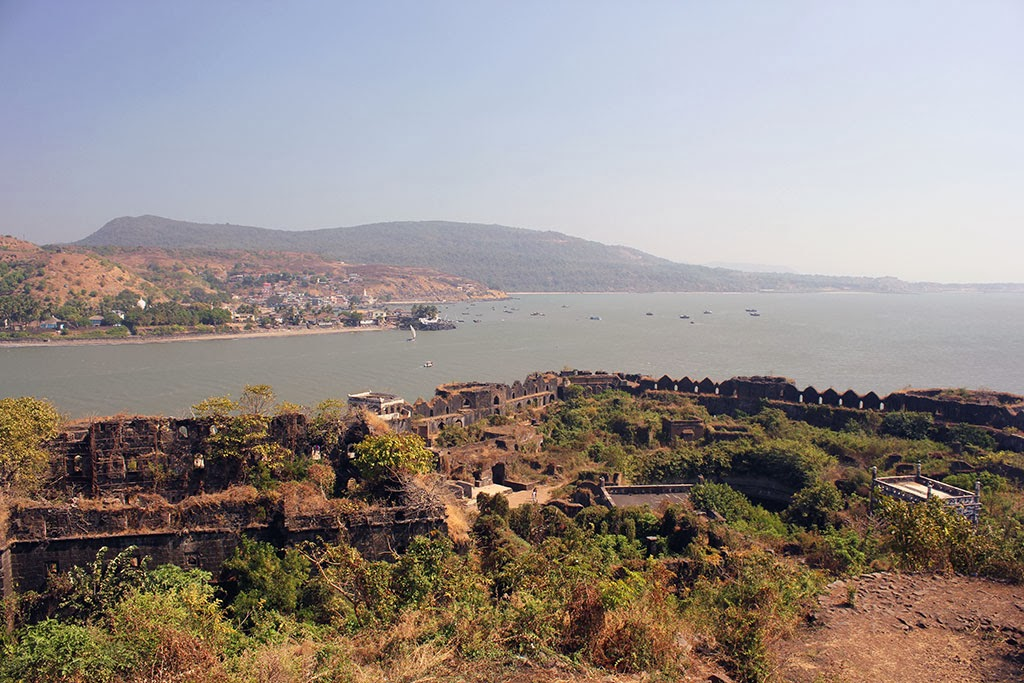 The view from Murud-Janjira Fort, India
