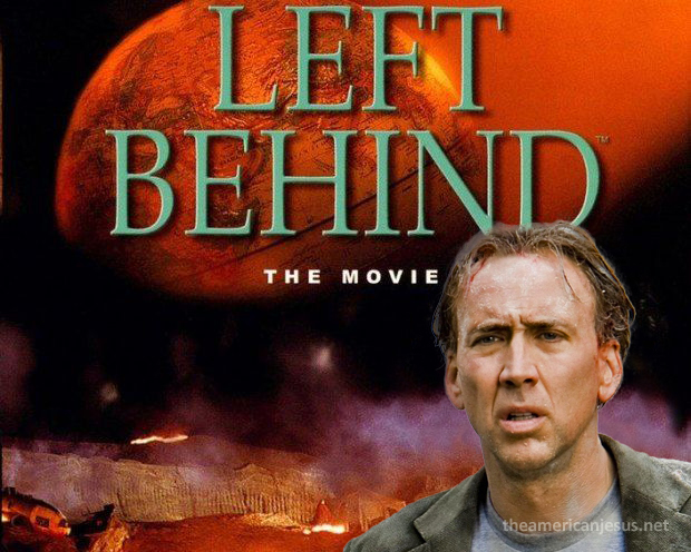 Left Behind Nicolas Cage Poster