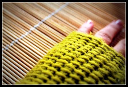 Guantes sin Dedos (Mitones) a Crochet - Punto Tunecino - Ahuyama Crochet