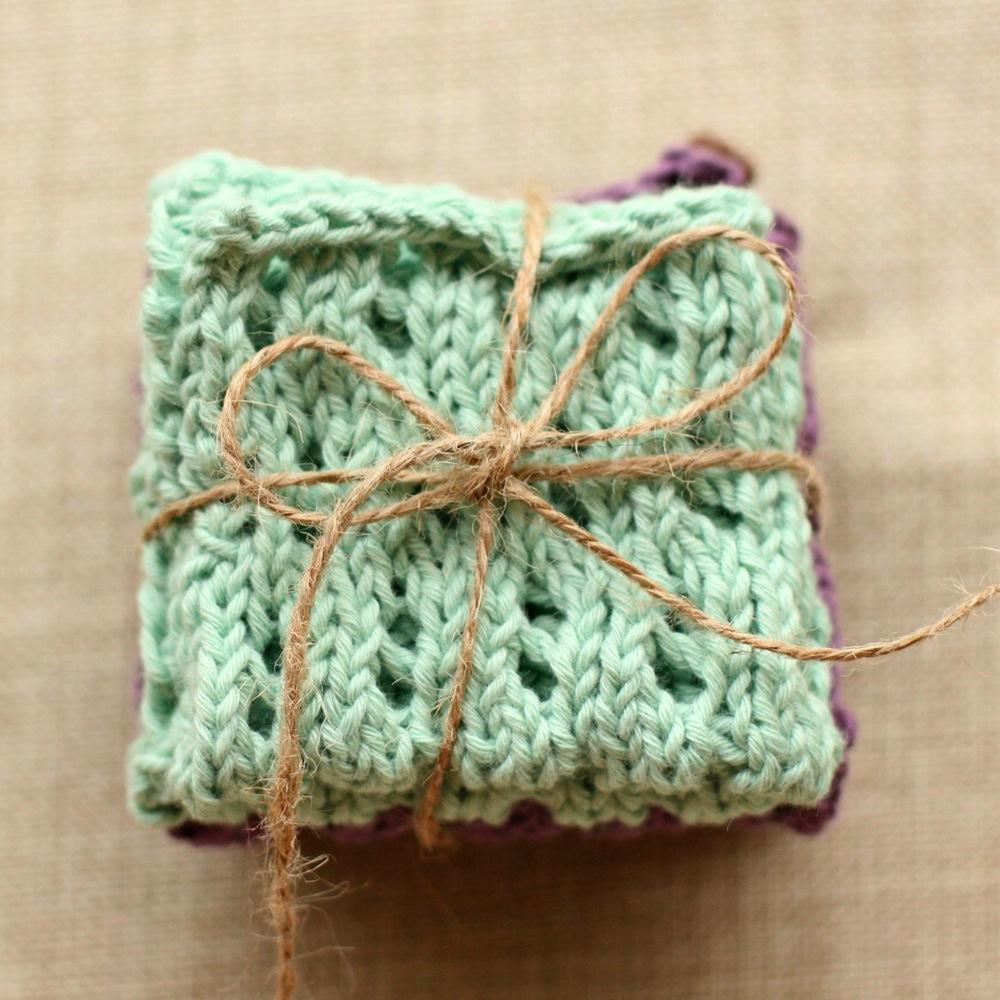 Waving Lace Washcloth Pattern