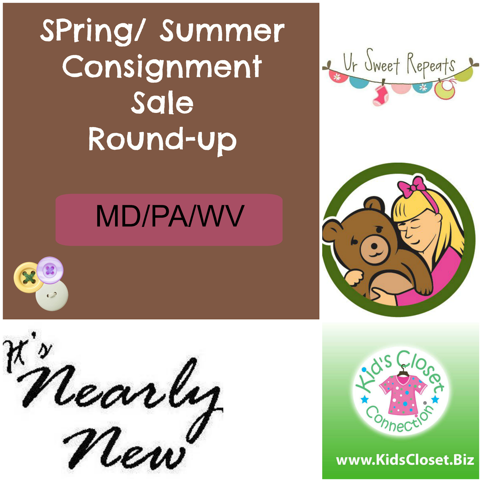 Spring summer consignment sale Pa-Md-Wv