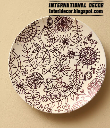 flower art plate for wall decorations  sc 1 st  International decor & make art plate to decorating your wall - wall art plate craft idea