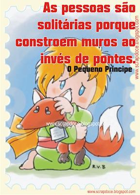 """Foto Mensagem de Solidão/Amizade/Frase do Livro """"O Pequeno Príncipe"""" para Compartilhar no Facebook"""