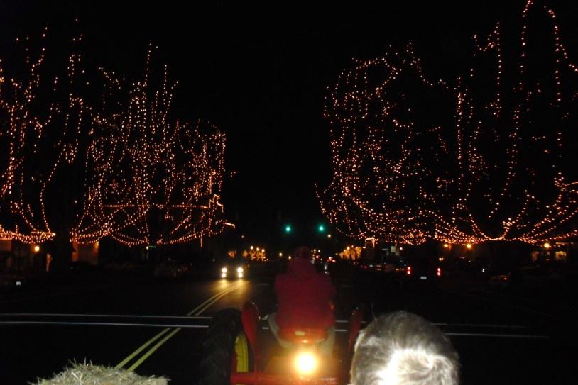 christmas lights hayride nc