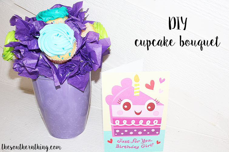 DIY cupcake bouquet tutorial
