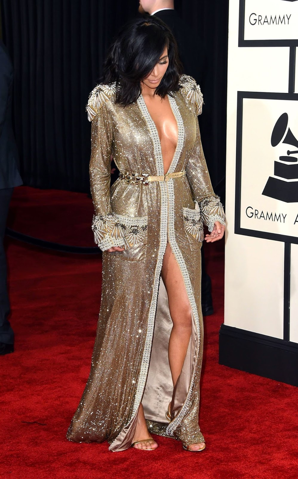 Kim Kardashian Dazzles In A Jean Paul Gaultier Gown At The