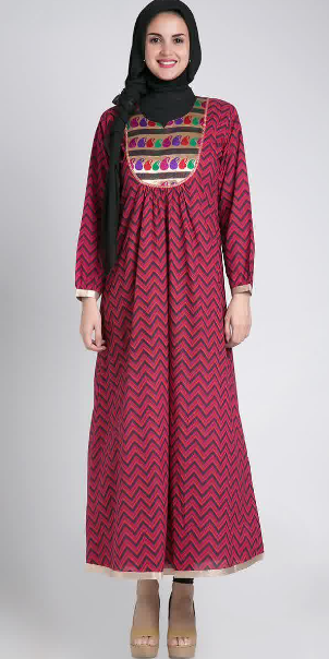 Contoh Model Baju Hamil Batik Muslim Terbaru 2015