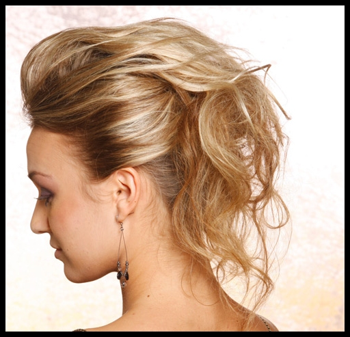 Messy easy casual updos for long hair