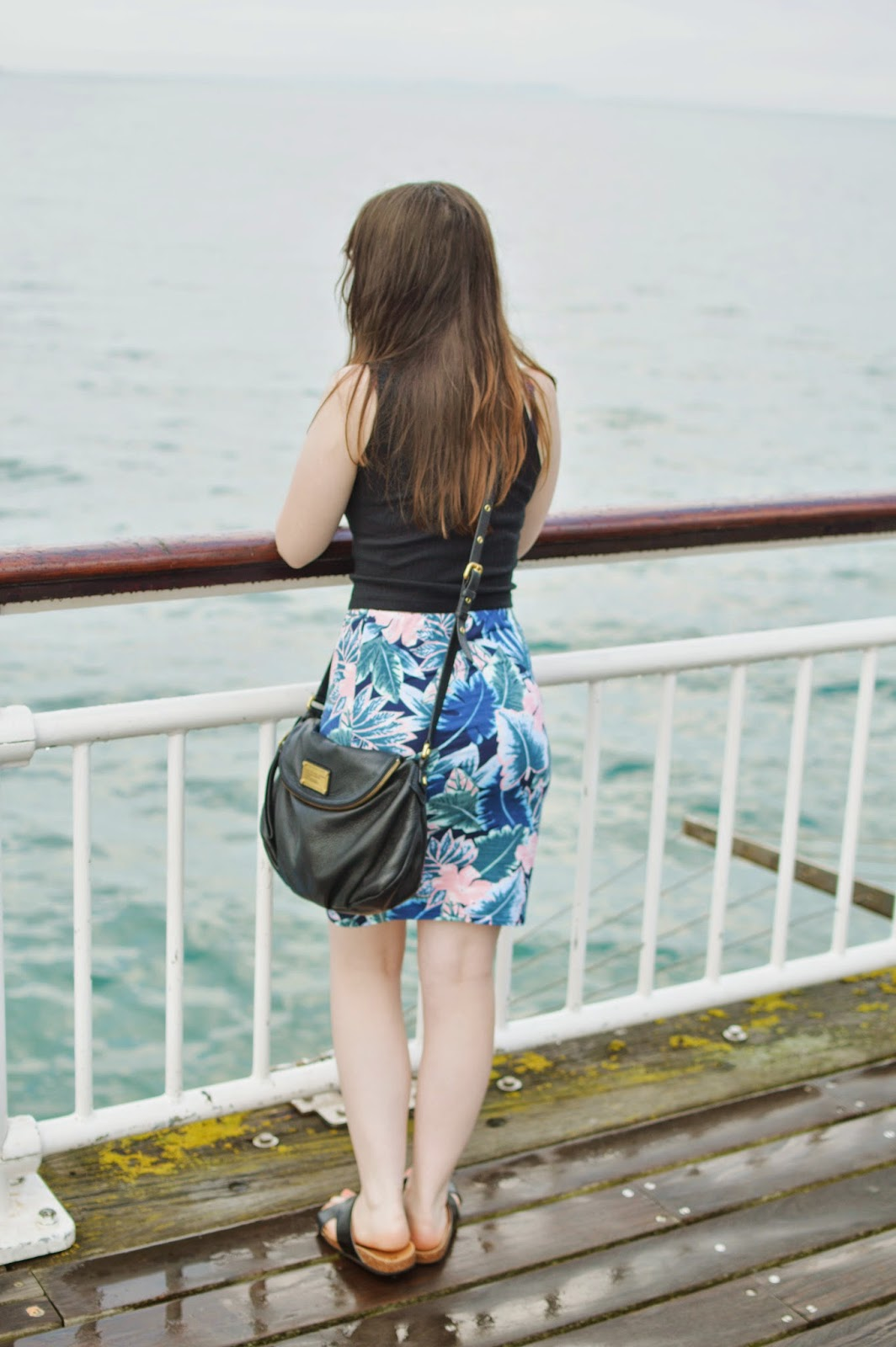 NEW LOOK TROPICAL PRINT SKIRT