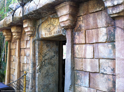 Indiana Jones Adventure ride Disneyland temple entry entrance