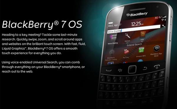 latest BlackBerry OS 7.