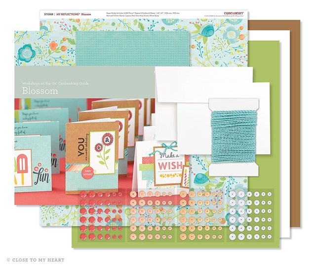 Blossom Card Kit-July's Scrapbooking Group