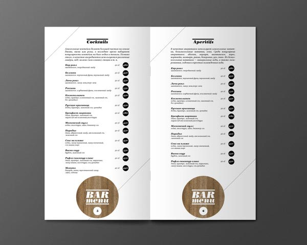 45  inspiring examples of restaurant menu designs