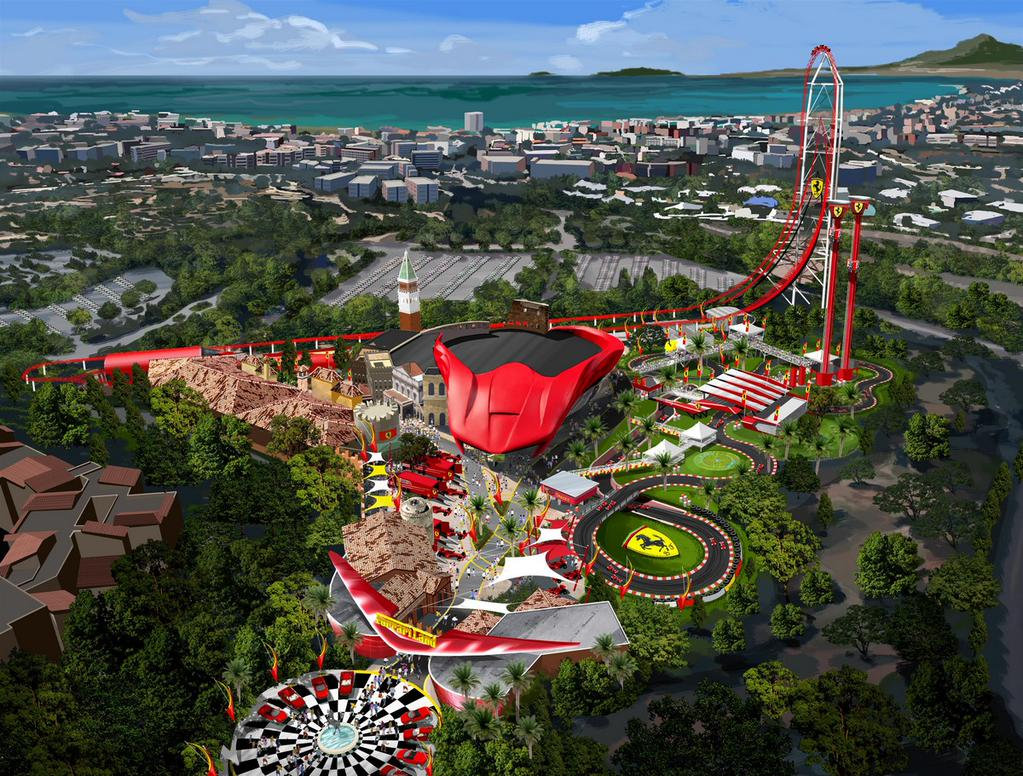 Newsplusnotes New Details On Portaventuras Ferrari Land Intamin