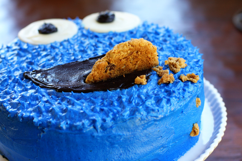 A Cookie Monster Birthday Cake