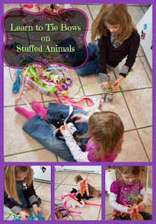 Learn to Tie Bows on Stuffed Animals