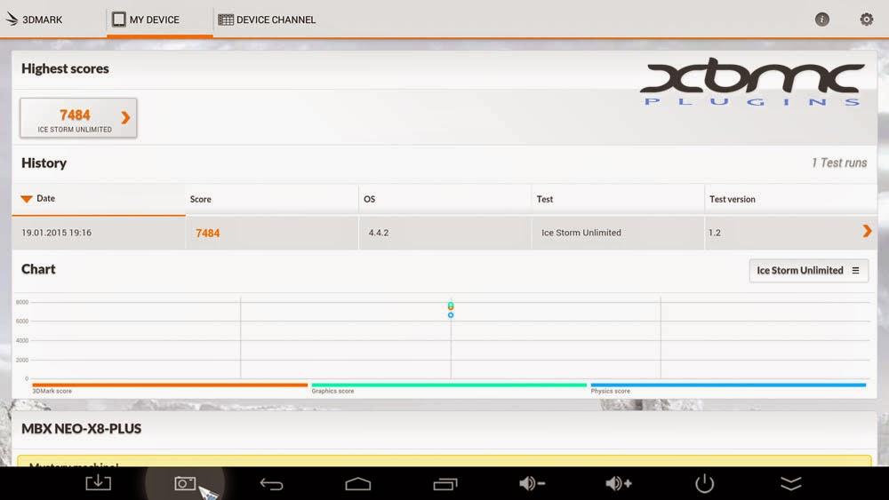 Benchmarks 3DMARK MINIX NEO X8 PLUS