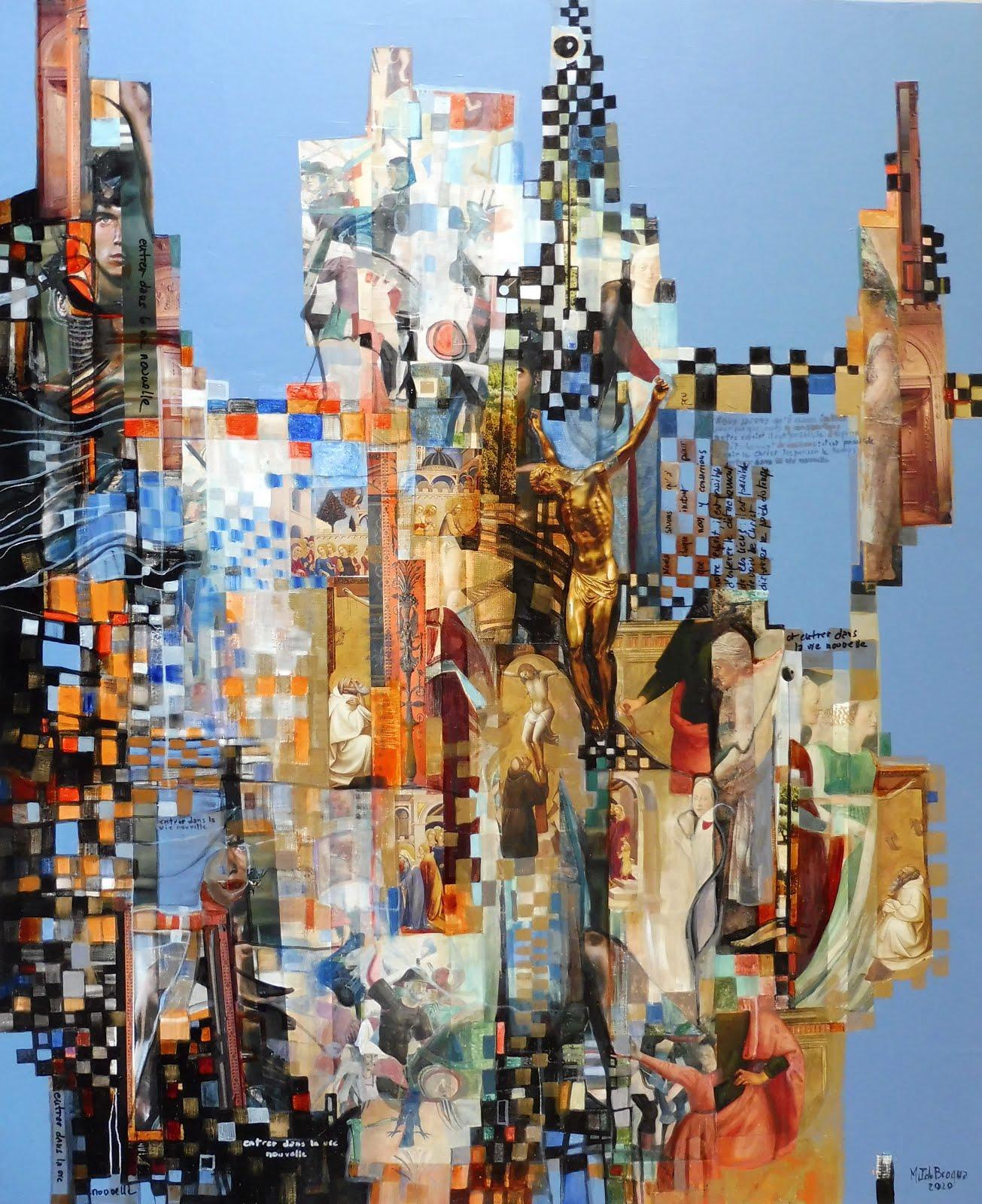 Entrer dans la vie nouvelle - 81 x 100 cm - 2020