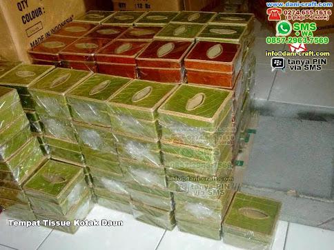 souvenir tempat tisu kotak daun surabaya