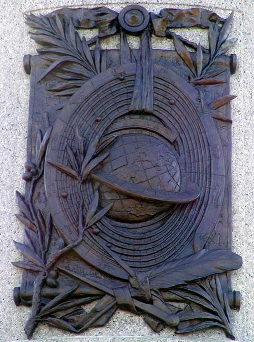 Geocentryzm na Pomniku Prezydenta USA Jamesa Garfielda