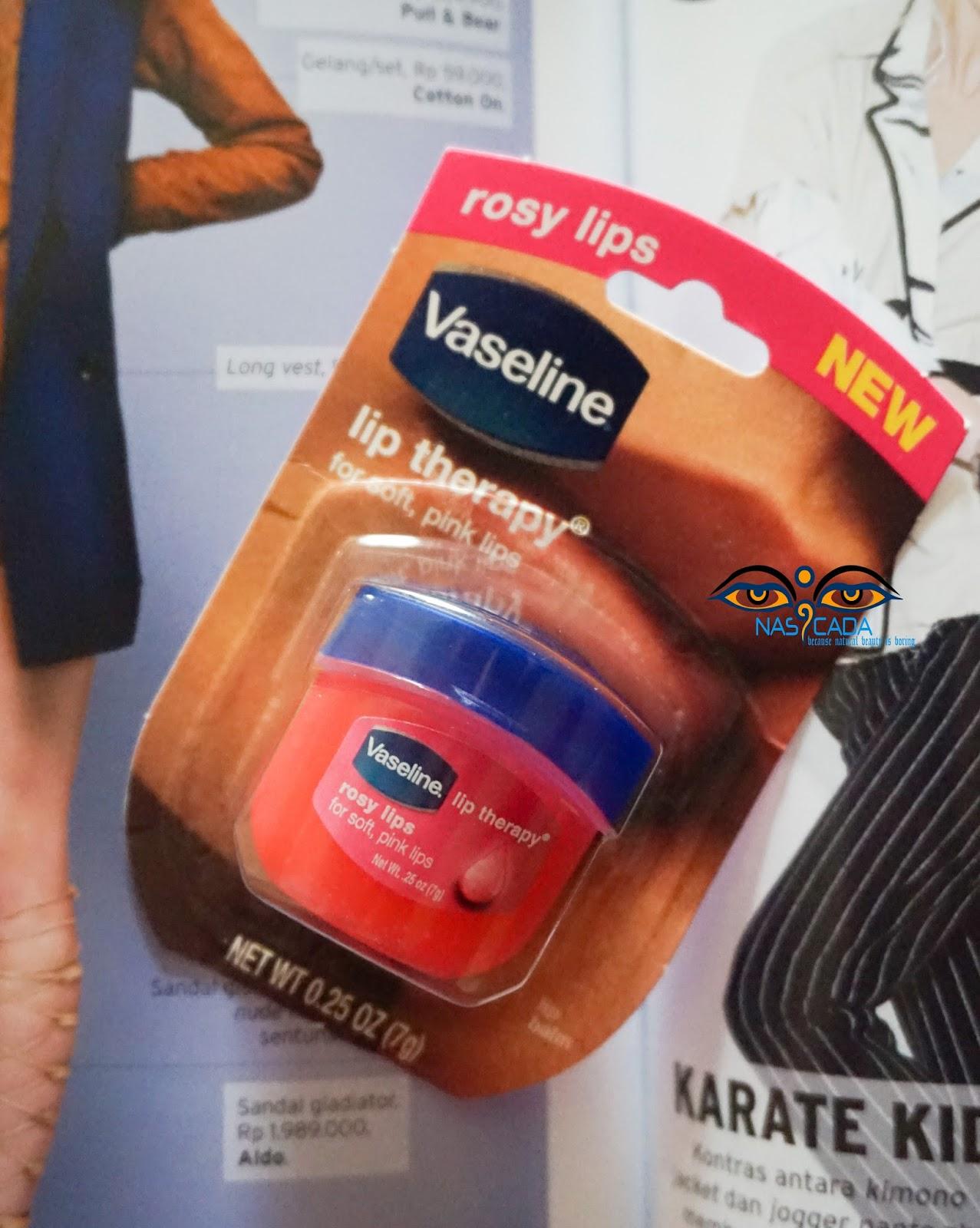 Ainunshop30 Lip Balm Vaseline Therapy Rosy Lips Kemasan
