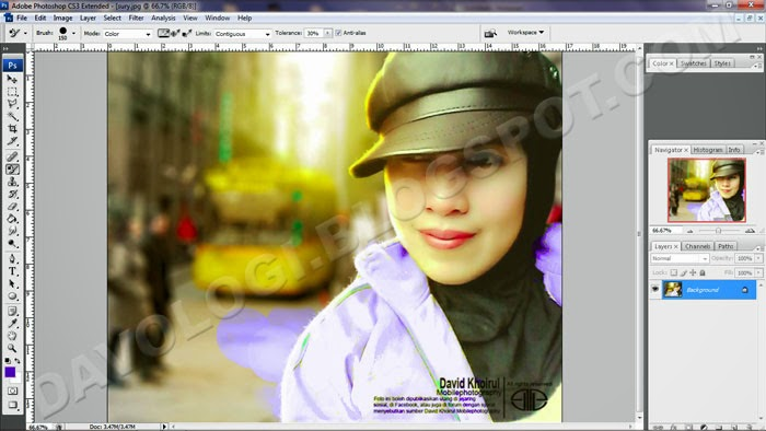 warna photoshop melebar