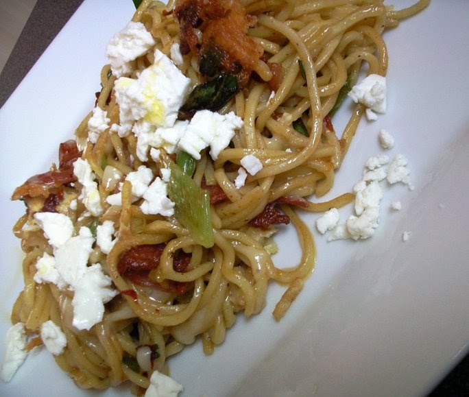 Credit Crunch Recipe - Fried Noodle, Egg, Cheese and Bacon ...