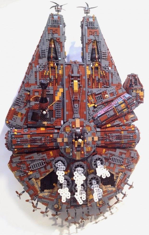 Galaxy fantasy halc n milenario steampunk construido con for Interior halcon milenario