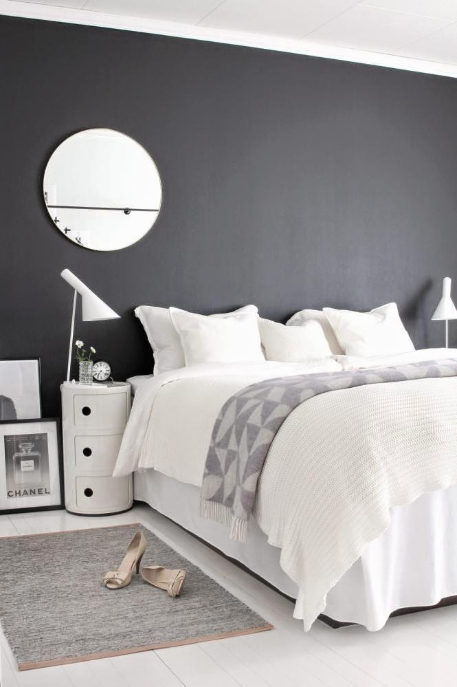 d couvrir l 39 endroit du d cor int rieur scandinave noir et blanc. Black Bedroom Furniture Sets. Home Design Ideas