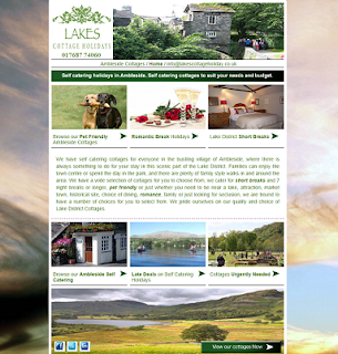Picture showing our ambleside lake district cottages landing page