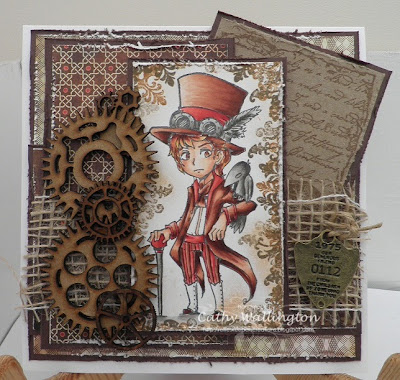 visible image stamps steampunk chap character
