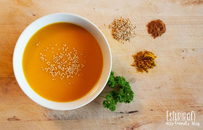 Las recetas de Esturirafi. Crema de calabaza y curry #recetas