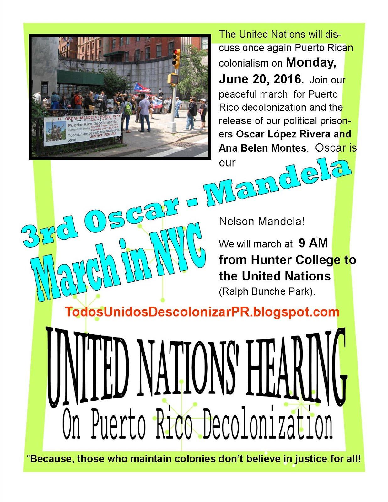3ra Marcha Oscar - Mandela en NYC 2016