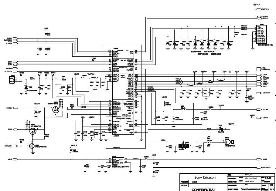 Sony Ericsson K310 Schematic Diagram