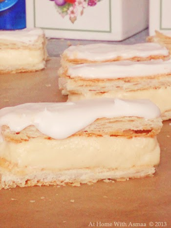 mini vanilla custard slices recipe | Halal Home Cooking