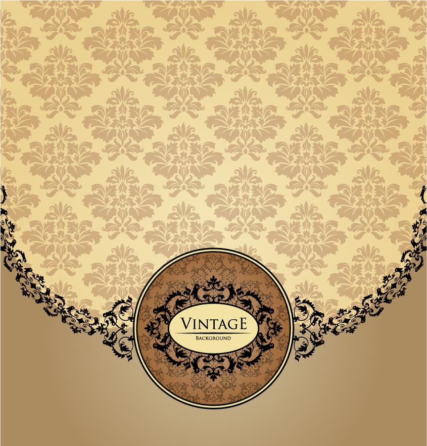 シームレスなパターンのヴィンテージ背景 texture pattern shading background イラスト素材