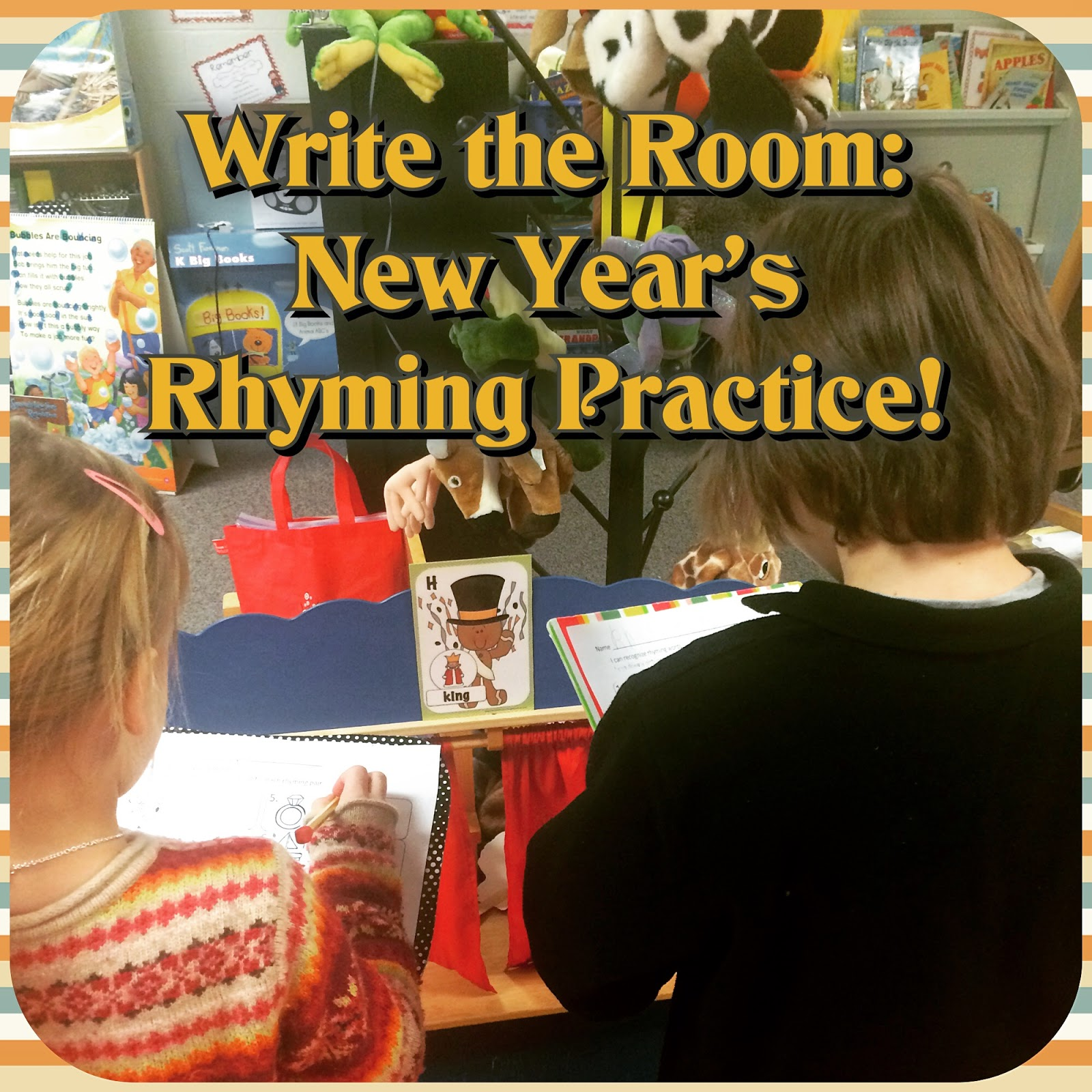 http://www.teacherspayteachers.com/Product/New-Year-Write-the-Room-Rhyming-Word-Pairs-FREE-1042414