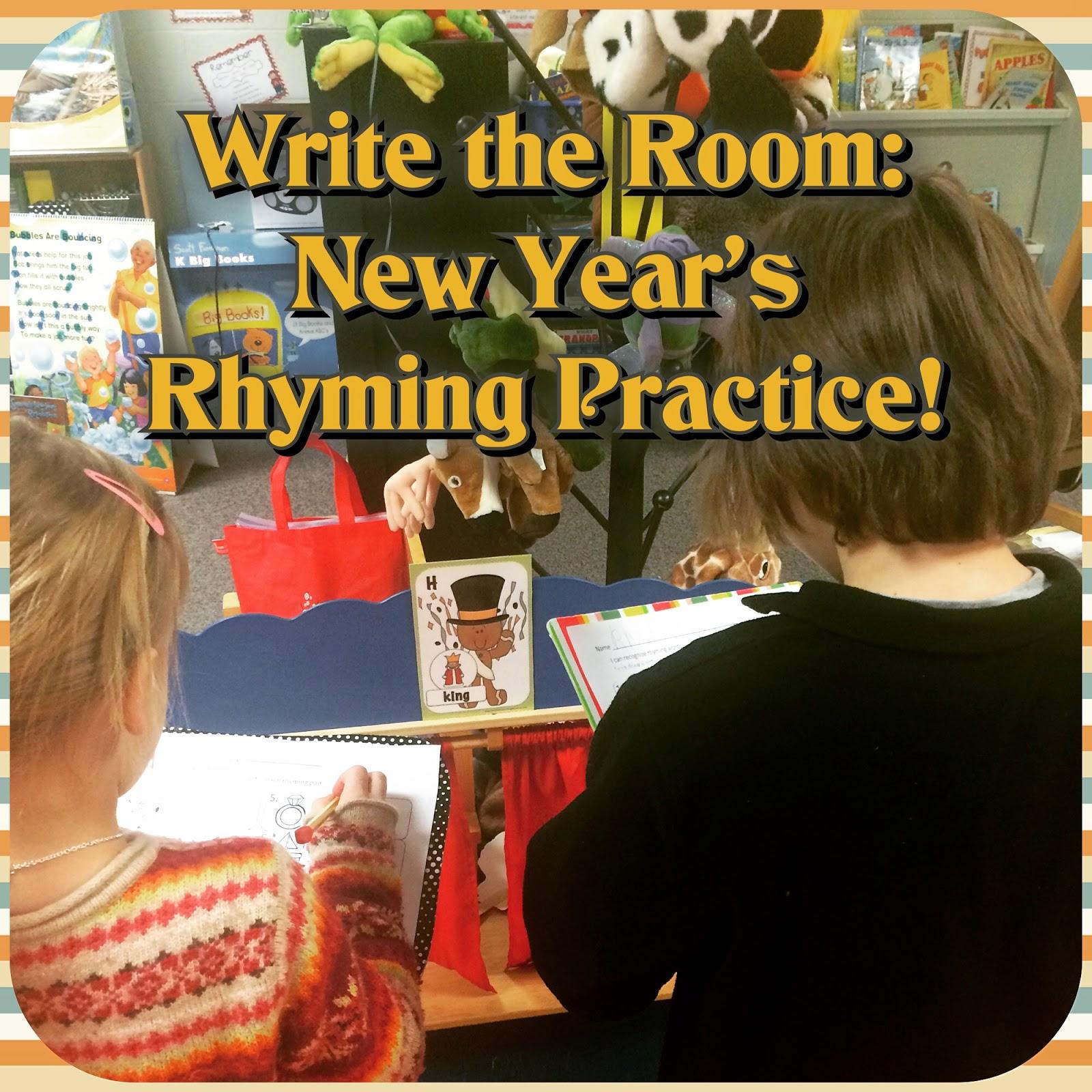 http://www.teacherspayteachers.com/Product/New-Year-Write-the-Room-Rhyming-Word-Pairs-FREE-1042414