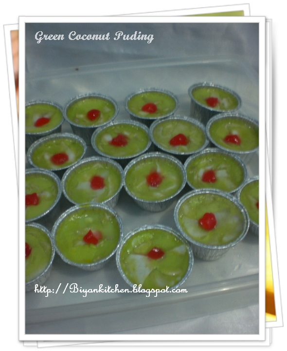 Green Coconut Puding