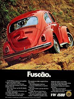 propaganda Fuscão - VW 1500 - 1970; os anos 70; brazilian cars in the 70s; Oswaldo Hernandez; década de 70;