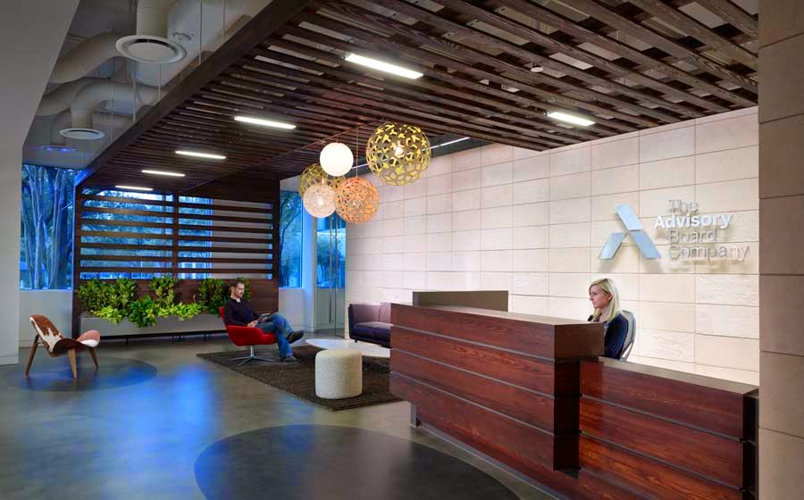 Well Branded Reception Area