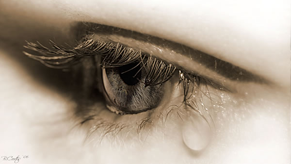 Love is when you shed a tear and still want him