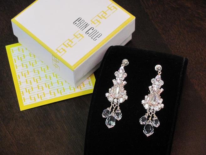 Crystal Earrings By Wedding Jewelry Designer Erin Cole