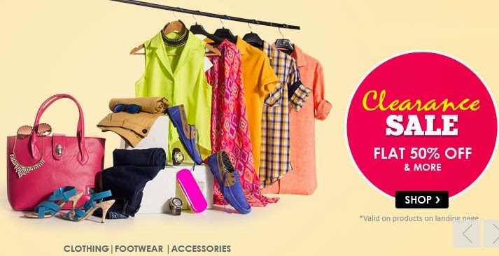 Snapdeal: Get Flat 50% Off or more on Clothing | Footwear | Accessories + Extra 5% Off for Rs. 600