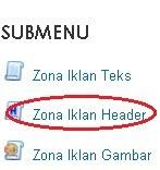 Zona iklan header