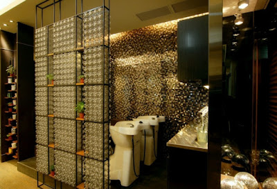 Plastic bottle eco hair salon