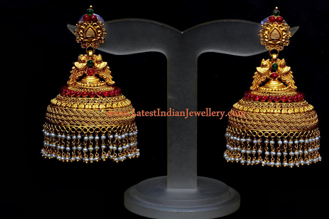 Heavy Traditional Jhumka Design