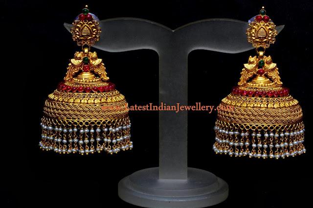 Heavy Traditional Jhumka Design