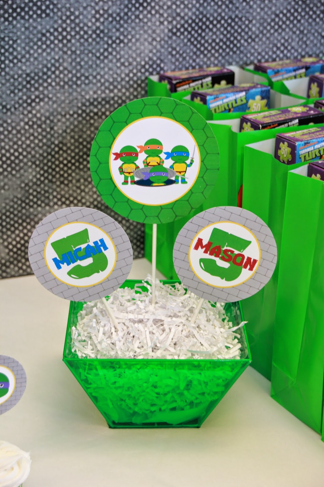 This is a picture of Tactueux Ninja Turtle Party Printables