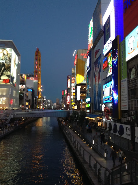 Glico man from Dotombori bridge